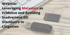 Webinar: Leveraging Metadata